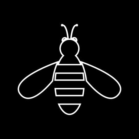 Bee it is icon . Flat style .