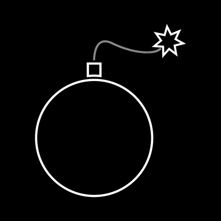 Bomb it is icon . Flat style . Illustration