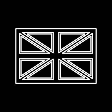 great: Flag united kingdom it is icon . Flat style . Illustration