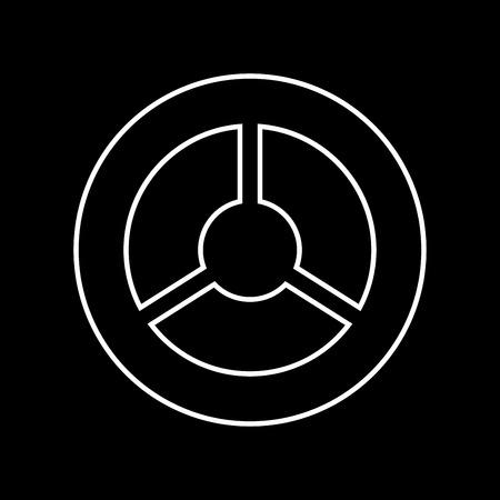 sports equipment: Steering wheel it is icon . Flat style .