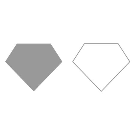achievment: Superhero template grey set it is icon . Flat style .