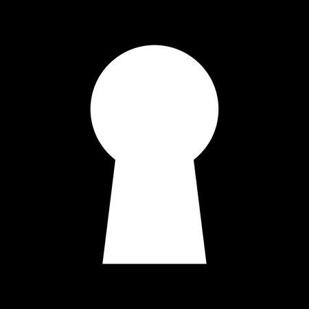 private security: Keyhole it is icon . Flat style .