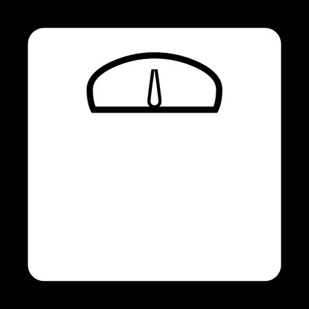 Weight scale it is icon . Flat style .