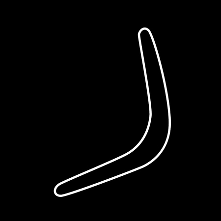 Boomerang it is icon . Flat style .