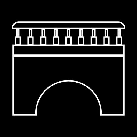 Bridge it is icon . Flat style .