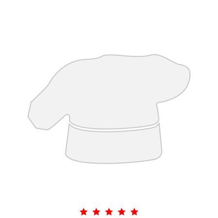 Chef cuisson chapeau c'est icône. Style plat. Banque d'images - 85565979