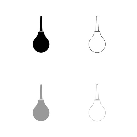 Enema black and grey set icon . Flat style .