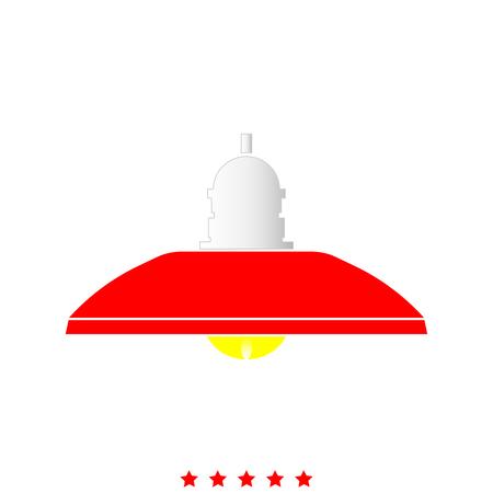 Retro huishoudenlamp en staande lamp het is pictogram. Vlakke stijl. Stock Illustratie