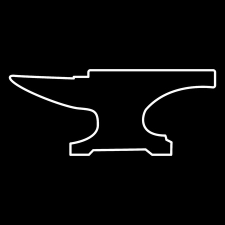 Anvil block it is icon . Flat style .