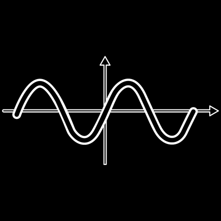 Sinewave it is icon . Flat style .