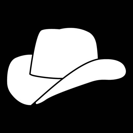 Cowboy hat it is icon . Flat style .