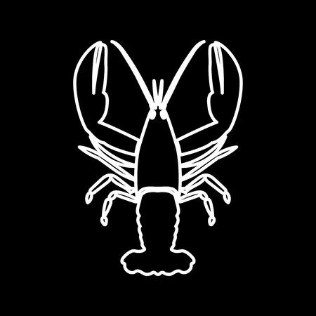 Craw fish it is icon . Flat style . Banco de Imagens - 85565962