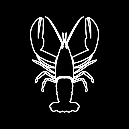 Craw fish it is icon . Flat style .