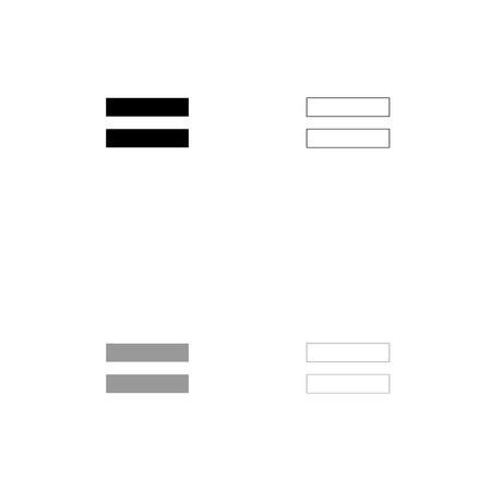 Sign equally black and grey set icon . Flat style .