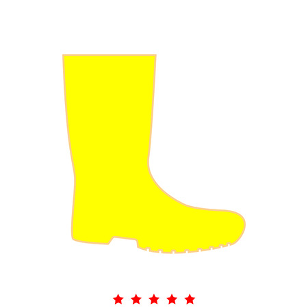 Rubber boots it is icon . Flat style .
