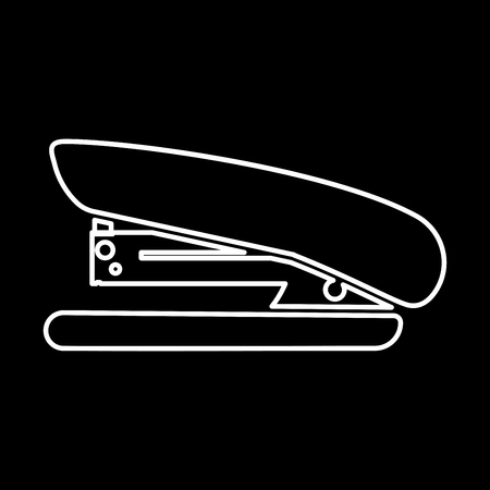 Stapler it is icon . Flat style .