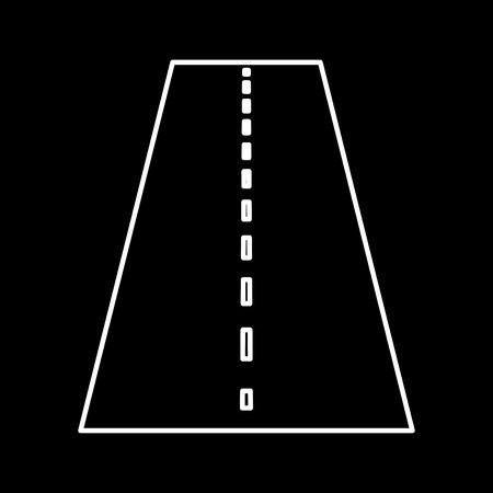 Road it is icon . Flat style .