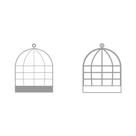 Iron cage it is black icon . Simple style.