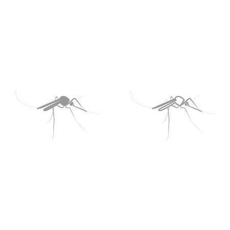 Mosquito it is black icon . Simple style. Stock Vector - 87000686