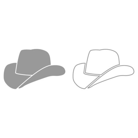 Cowboy hat it is black icon . Simple style.