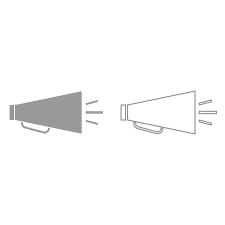 Retro loudspeaker it is black icon . Simple style.  イラスト・ベクター素材