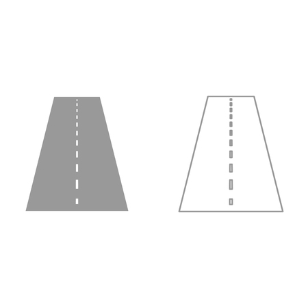 Road it is black icon . Simple style.