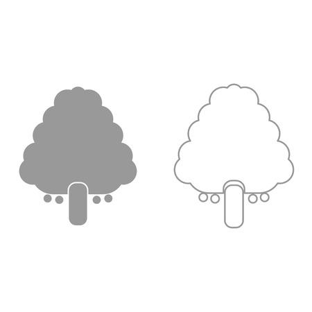 Fruit tree it is black icon . Simple style. Illustration