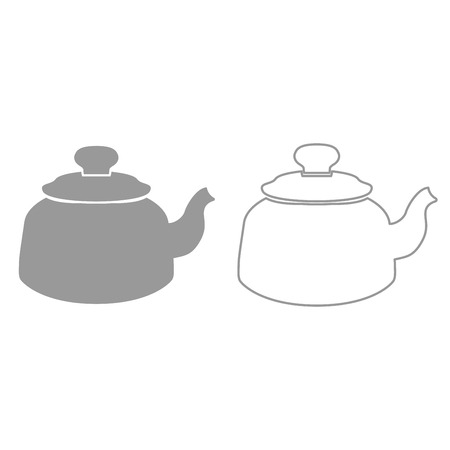 Teapot it is black icon . Simple style.