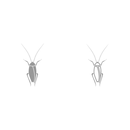 Cockroach it is black icon . Simple style. Çizim