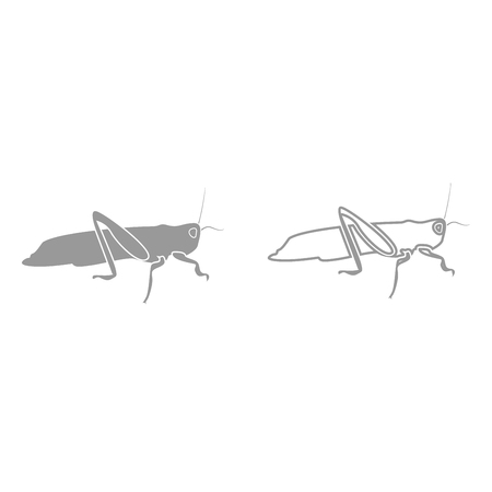 Grasshoper it is black icon . Simple style.