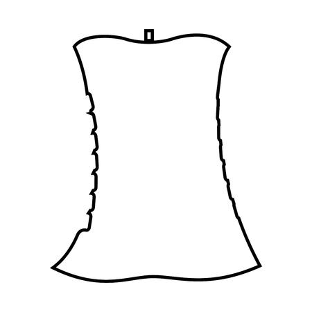 Apple core it is black icon . Simple style . Illustration