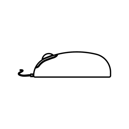 Computer mouse it is black icon . Simple style . Illustration