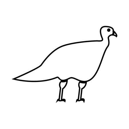 Turkeycock  it is black icon . Simple style . Çizim
