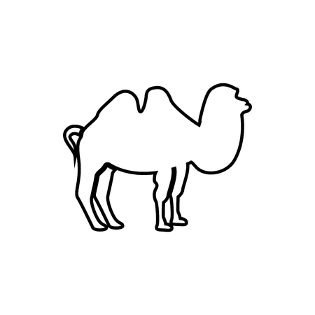 Camel it is black icon . Simple style .