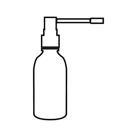 healing: Throat spray it is black icon . Simple style .