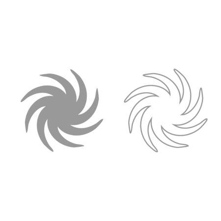 Whirpool it is grey set icon .