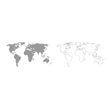 World map it is grey set icon . Banco de Imagens - 88020652