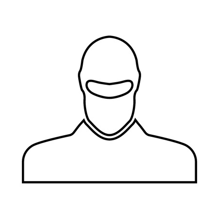 Man in balaclava or pasamontanas black icon . Illustration