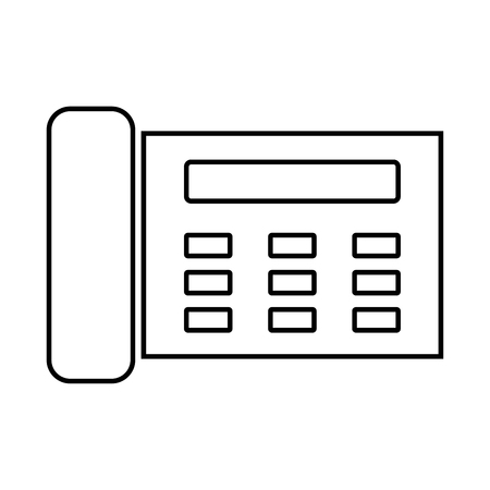Fax black icon .