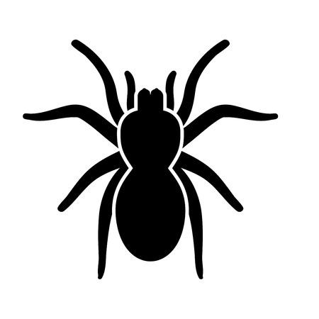 Spider or tarantula it is black icon . Flat style