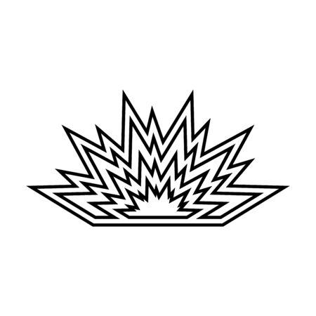 Explosion black icon . Illusztráció