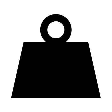 Weight it is black icon . Flat style Illustration