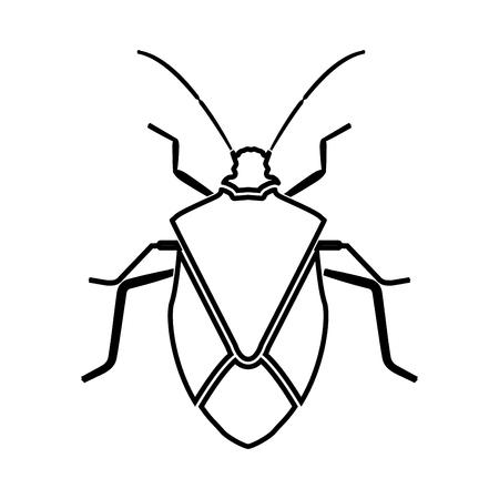 Bug black icon .
