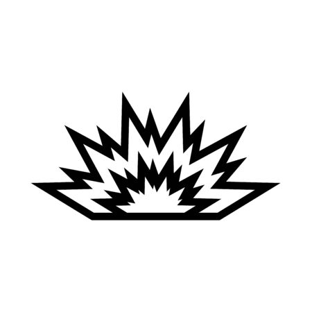 Explosion it is black icon . Flat style