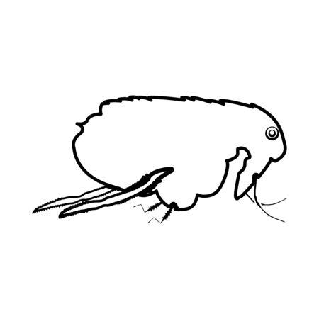 Flea black icon . Banco de Imagens - 89167524