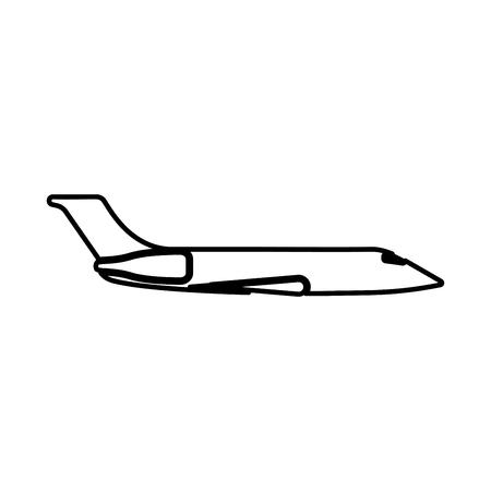 Private airplane black icon .