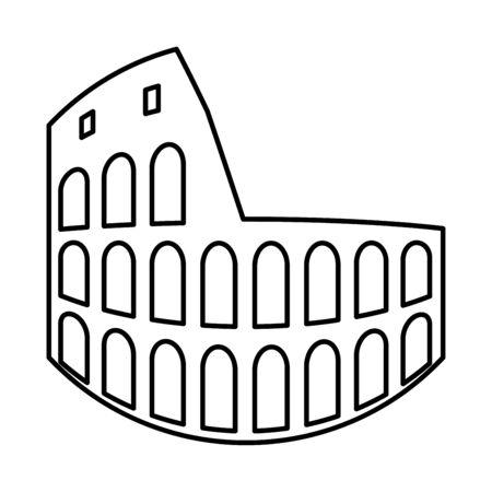 Coliseum black icon . Illustration