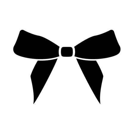 Bow it is black icon . Flat style