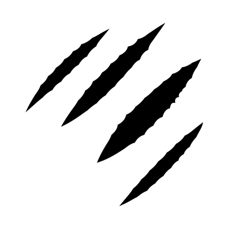 Trail of claws it is black icon . Flat style