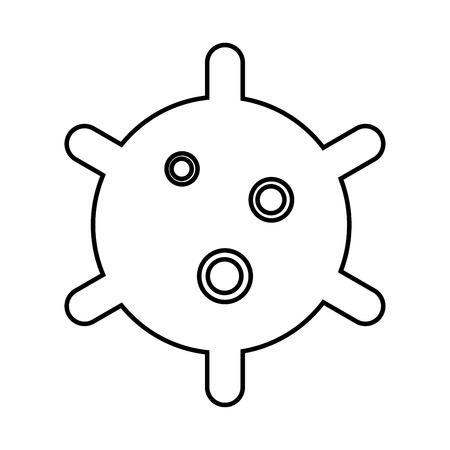 Virus black icon .